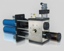 Extrusion hydraulic screen pack changer products